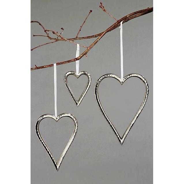 h nger herz 3er set silber h 10 22 cm online kaufen malou zauberhafte dekowelt. Black Bedroom Furniture Sets. Home Design Ideas