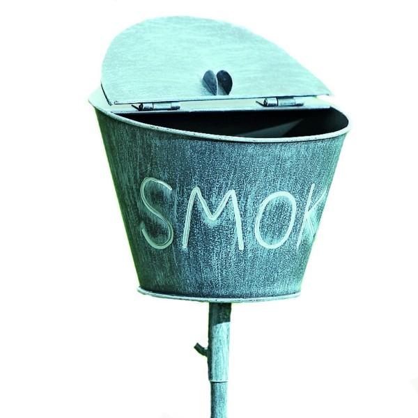 """Gartenstab Aschenbecher """"Smoke"""", grau, 2952300, 4020606100795"""