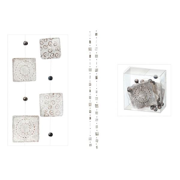 PREIS pro Stück Muschelkette Capiz Girlande weiß//silber Perlmutt