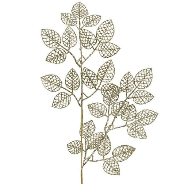 Deko Zweig Blätter silber - H 80cm