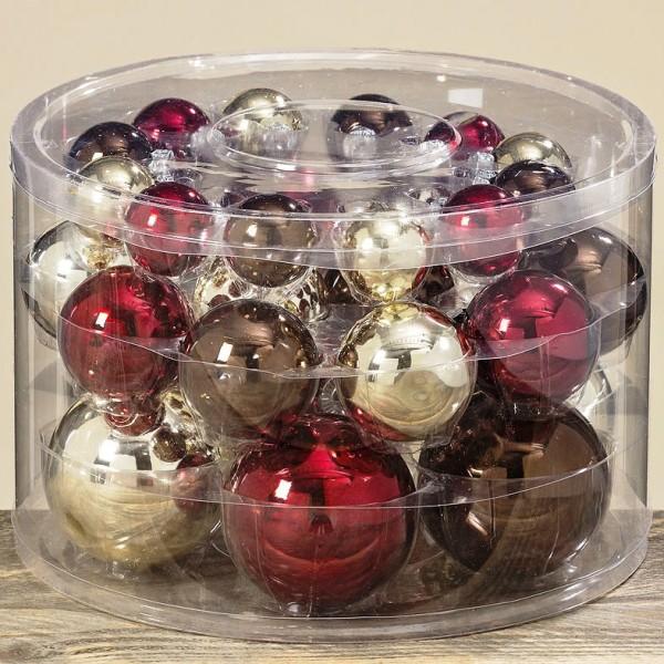 Christbaumkugeln Glas Günstig.Weihnachtskugeln 30 Tlg D4 8 Cm