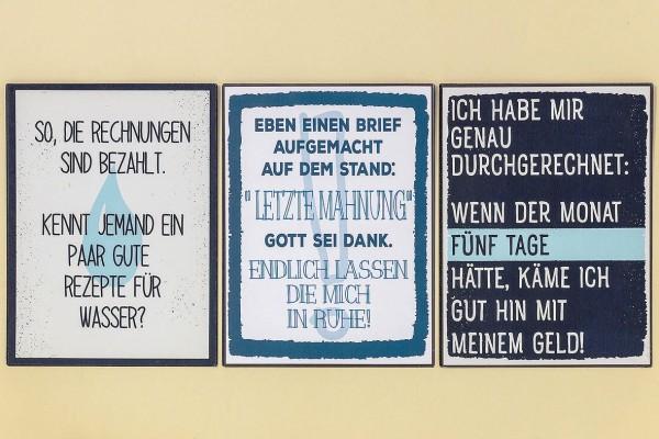 Blechschild Mit Spruch Vintage 40x30 Cm