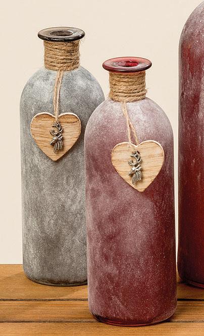 vase meggi rot grau gefrostet h 21 cm online. Black Bedroom Furniture Sets. Home Design Ideas