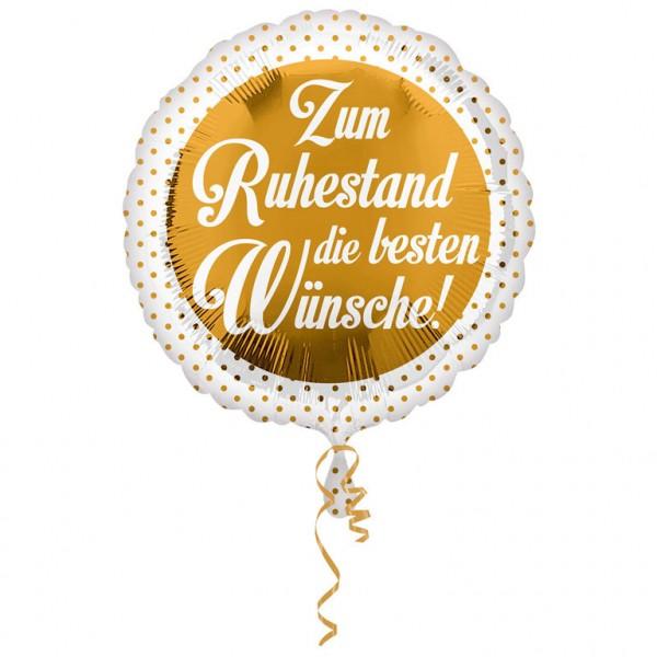 """Folienballon, Heliumballon """"Zum Ruhestand die besten Wünsche!"""""""