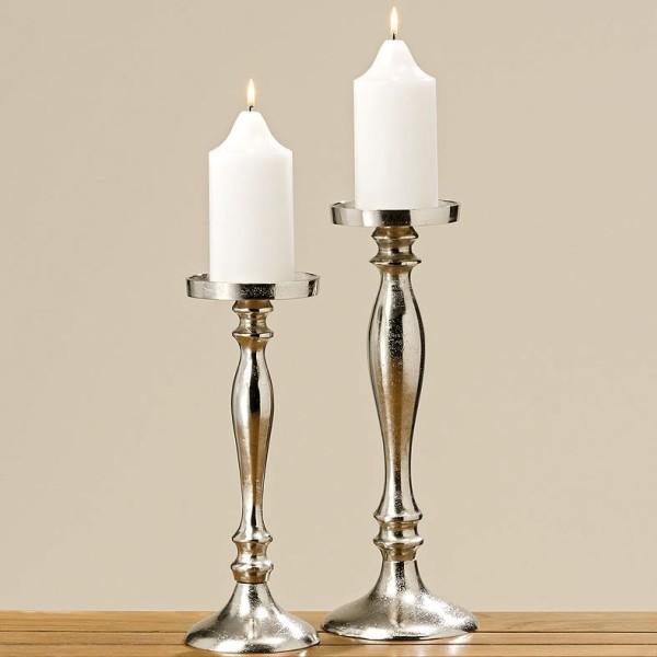 Kerzenleuchter Flaire Silber H 31 36cm