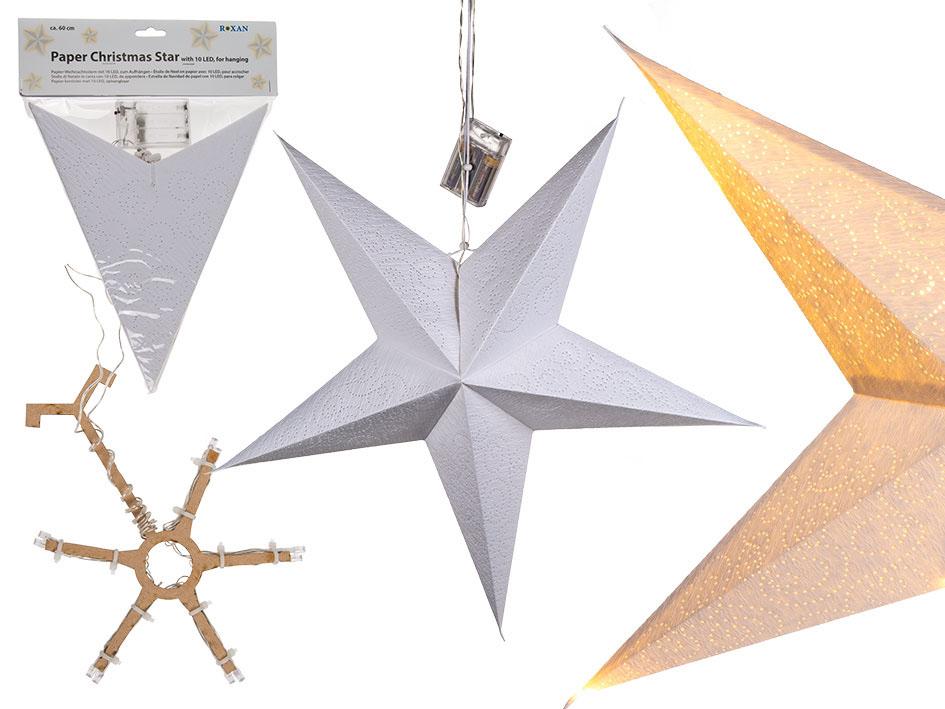 Papierstern Mit Beleuchtung : led papierstern wei d 60cm g nstig online kaufen ~ Watch28wear.com Haus und Dekorationen