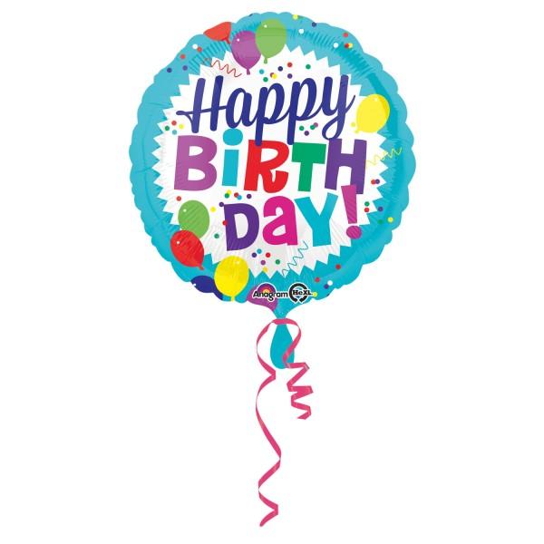 Hochwertiger Heliumballon Happy Birthday Zum Geburtstag
