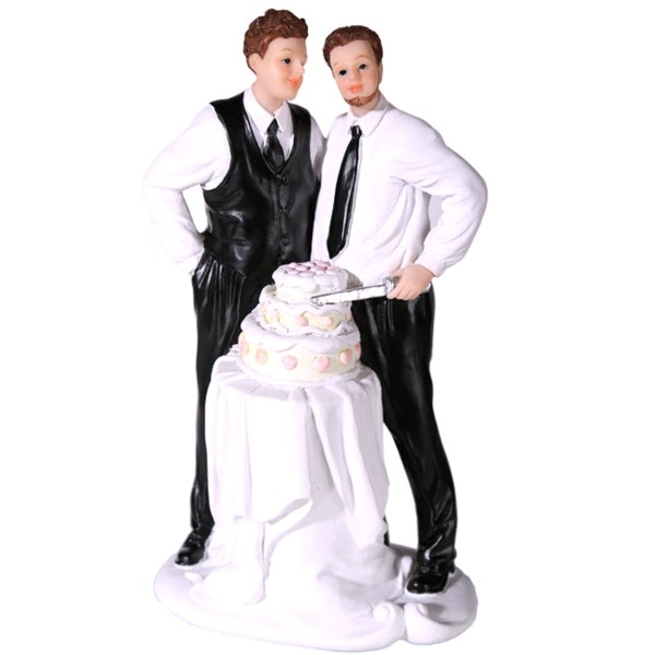719208 Hochzeitsfigur, Bräutigam, Männliches Hochzeitspaar mit Torte, Geschenk zur Hochzeit