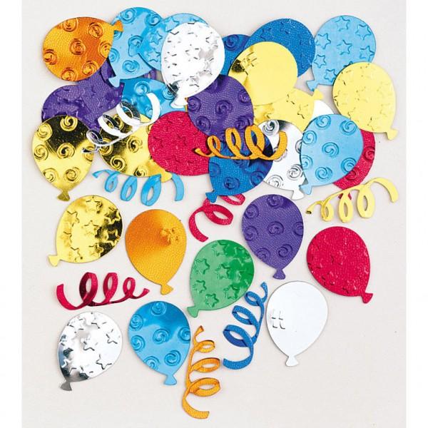 Konfetti Partyballons bunt Streudeko