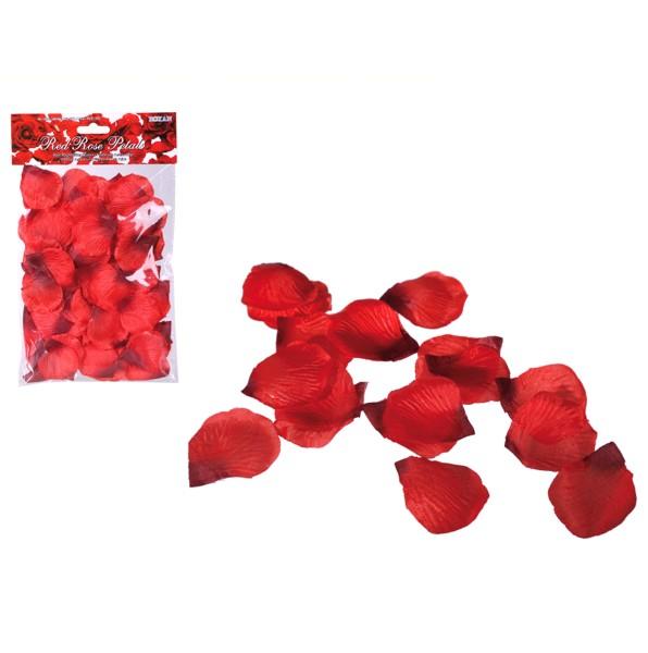 Rote Rosenblütenblätter, künstliche Blätter rot Rosen, Rosenblätter, 500114, 4029811341399