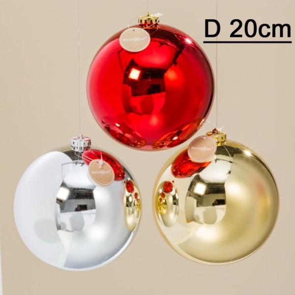 Weihnachtskugeln Xxl.Xxl Hänger Kugel Rot Silber Gold D20cm