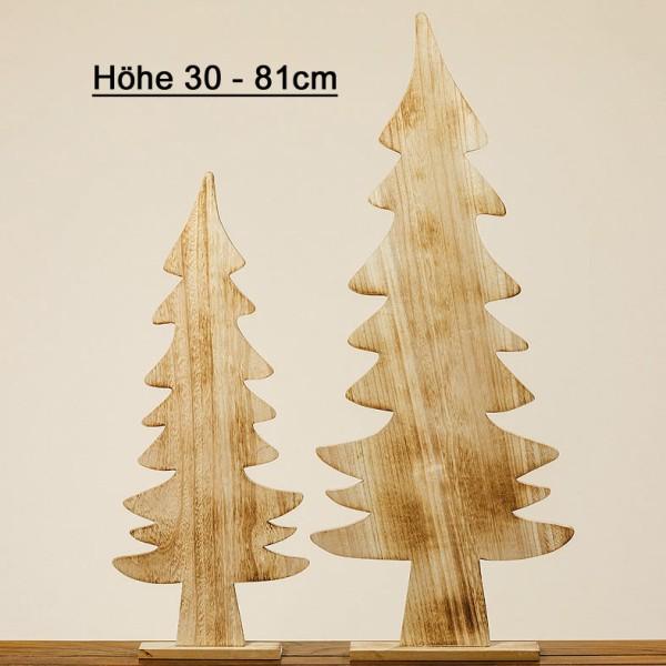 Deko Tannenbaum Holz.Deko Aufsteller Weihnachtsbaum Braun H 30 81cm