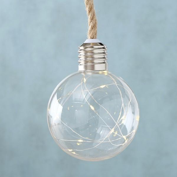 LED Lampe zum hängen klar D12cm, Hängelampe, Dekobeleuchtung, 2004767, 4020607788770
