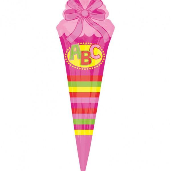 Folienballon pink zur Einschulung, Schultüte, Schulanfang, Heliumballon, Luftballon