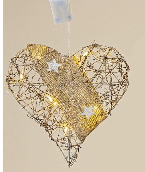 Led Weihnachtsbeleuchtung Günstig.Led Herz Hänger Rattan H 30 Cm
