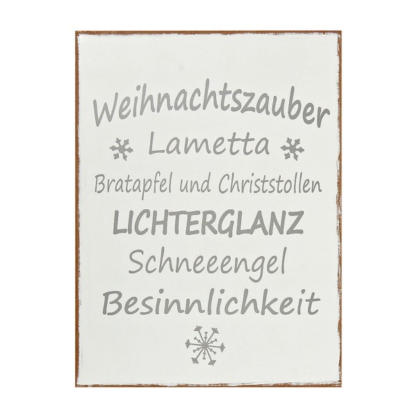 schild mit text weihnachtszauber h g nstig online kaufen. Black Bedroom Furniture Sets. Home Design Ideas