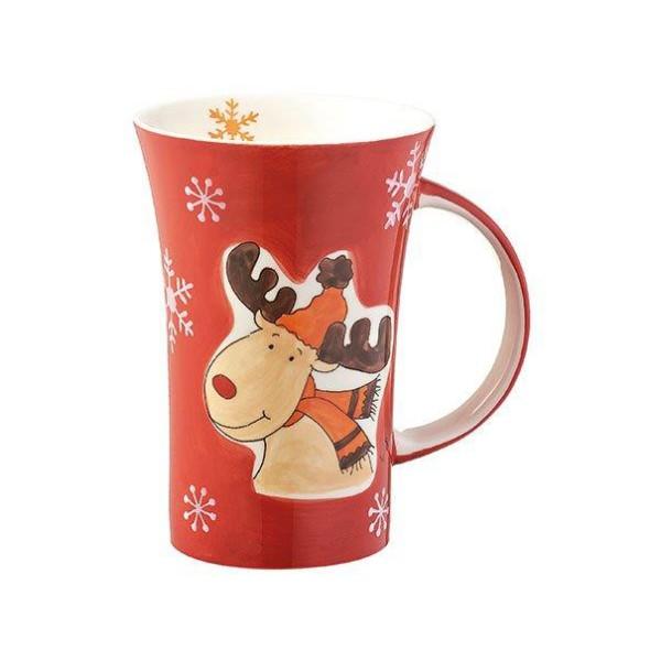Mila Design with a smile Coffee Pot Rudi Mütze, 82432, 4045303824324, Becher, Kaffeetasse, Weihnachtstasse