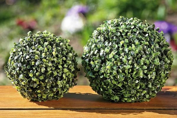 Buchsbaumkugel grün Kunststoff