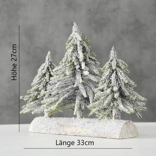 Deko Tanne beschneit auf Ast - Höhe 27cm