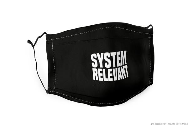 "Maske, Mundbedeckung schwarz ""System Relevant"", 179368, 4027268291885, Mundschutz, Mund, Nase, Gesichtsmaske"