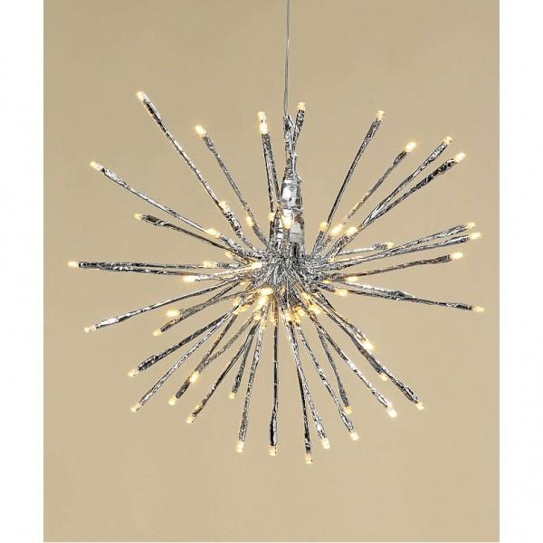 80er LED Stern silber für drinnen & draußen, Leuchtstern, Boltze, 1211500, 4020606057433