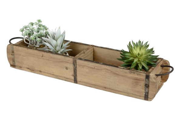 Deko Lade Ziegelform Holz antik - 15x58cm, 616630, 4025809616630,Aufbewahrungsbox, Menage