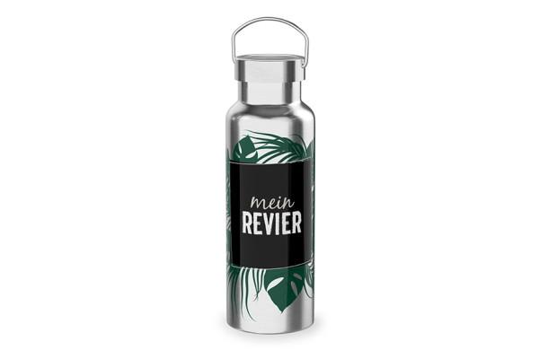"""Edelstahl Thermoflasche Trinkflasche """"Mein Revier"""", 539342, 4027268284856"""