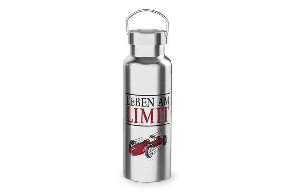 """Edelstahl Thermoflasche Trinkflasche """"Leben am Limit"""", 539362, 4027268284832"""