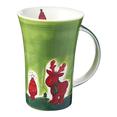 Mila Design with a smile Coffee Pot Elch Gustav Edition 2013, Becher, Kaffeetasse, Weihnachtstasse, 82431, 4045303824317