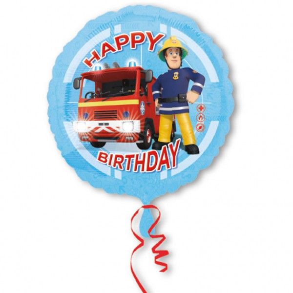 Feuerwehrmann Sam Heliumballon Folienballon Feuerwehr Kinderparty, Geburtstag, Kindergeburtstag