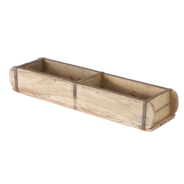 Rustikale XXL Deko Box Lade Ziegelform Holz antik, 2005733, 4020607802025
