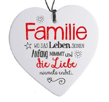 Herz mit spruch familie wo das leben malou dein for Minimalistisch leben mit familie