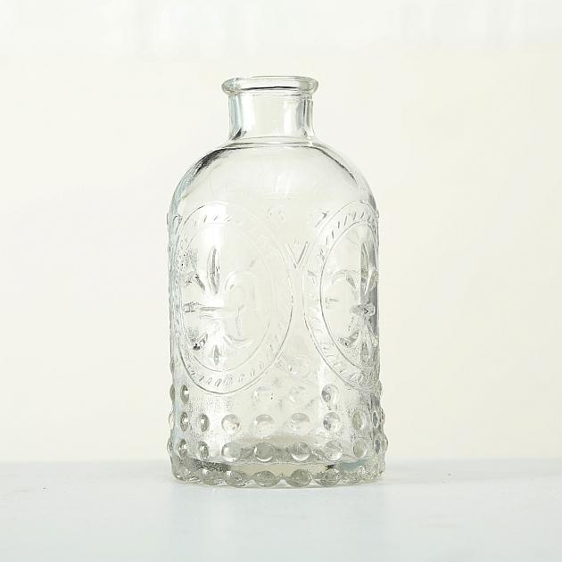 Glas Vase Country 3 teilig H12cm Nostalgie Tischvase Blumenvase