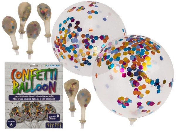 Party Ballons mit Konfetti, Luftballon, Konfettiballon