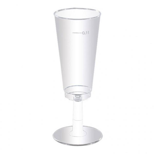 Plastik Kunststoff Sektgläser Champagnergläser 0,1l klar