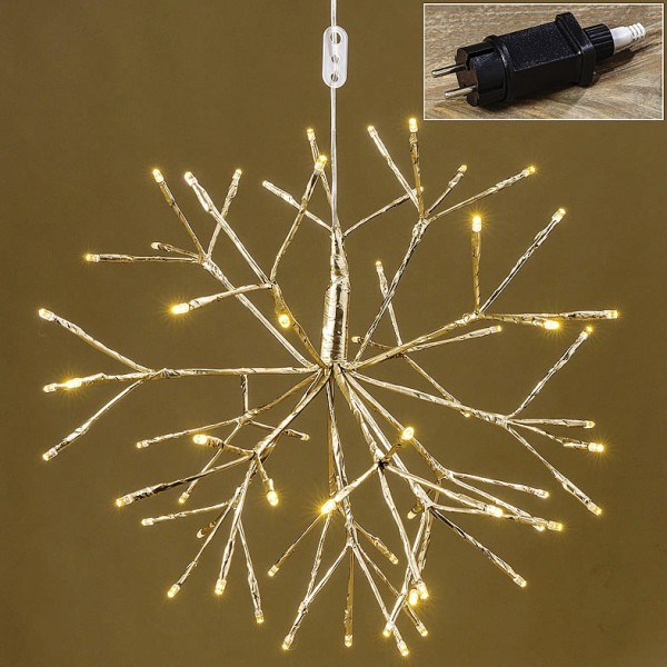 Stern Weihnachtsbeleuchtung.Led Stern Silber D 40cm