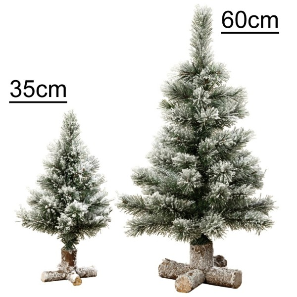 Tannenbaum beschneit künstlicher Deko Weihnachtsbaum - 1