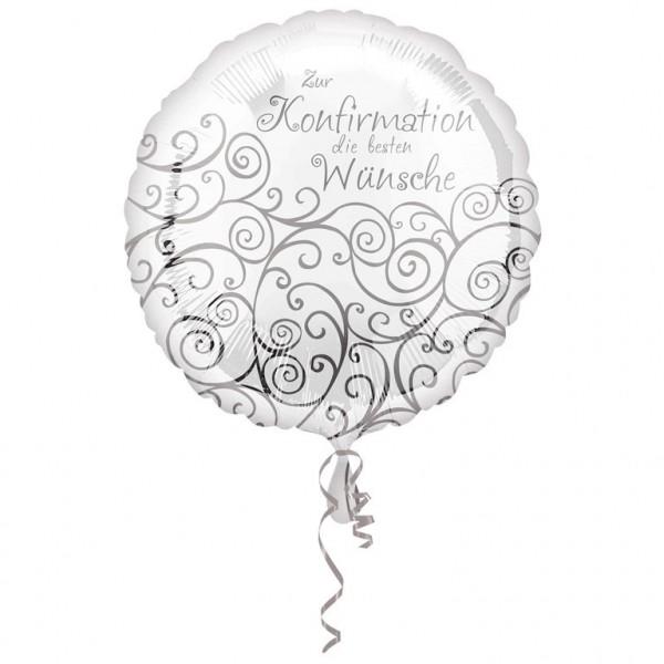 "Heliumballon Folienballon mit Aufschrift ""Zur Konfirmation die besten Wünsche"""