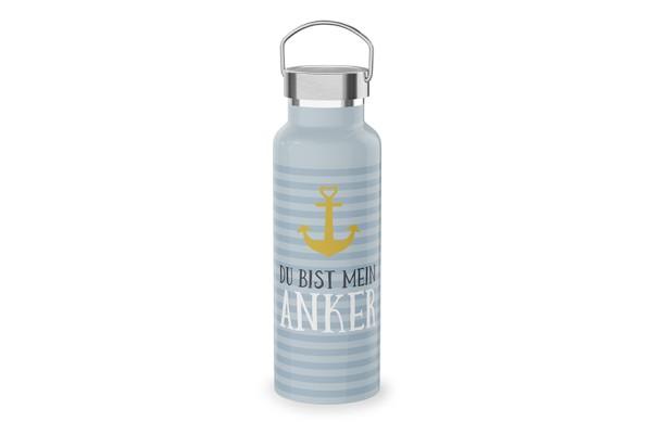 """Edelstahl Thermoflasche Trinkflasche """"Du bist mein Anker"""", 539811, 4027268284962"""