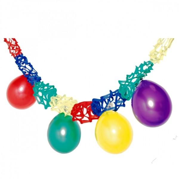 Bunte Papiergirlande mit Luftballons Partydekoration