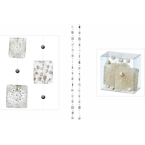Capiz Girlande Perlmutt weiß 2er Set, 4779100, 4020606949080