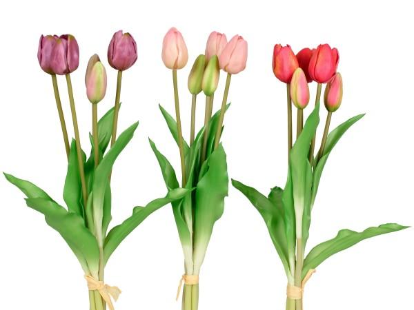 Kunstblume Tulpenbündel lila, rosa, rot, 671110, 4025809671110