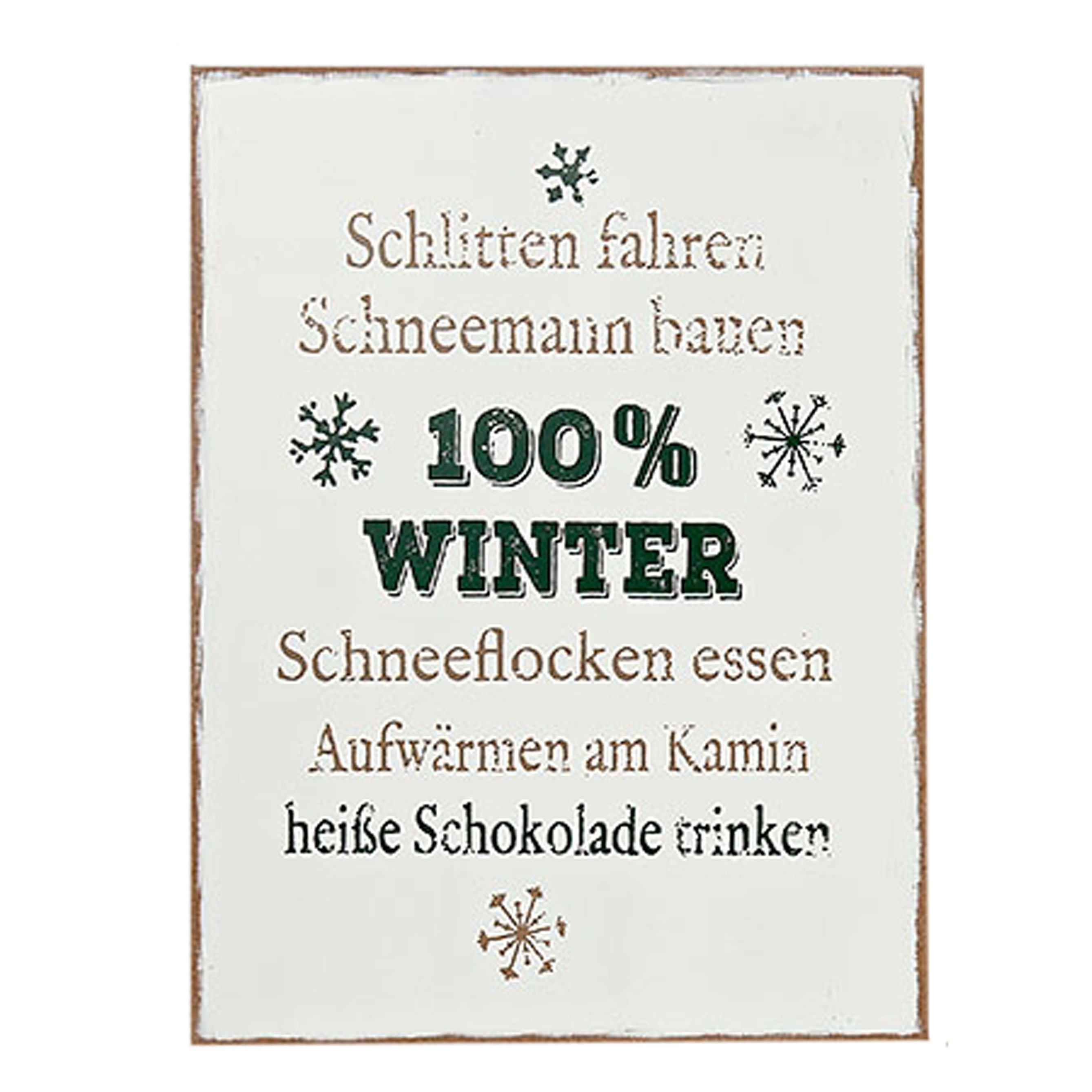 schild mit text schlittenfahren h 40 cm malou. Black Bedroom Furniture Sets. Home Design Ideas