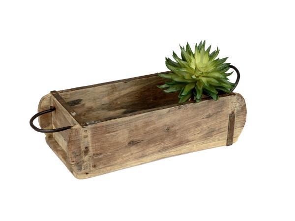 Deko Lade Ziegelform Holz antik - 15x32cm, 61662, 4025809616623