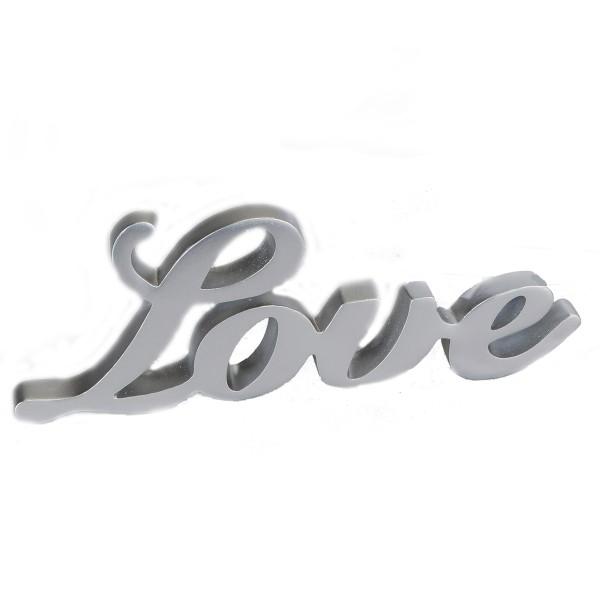 """Aufsteller Schriftzug """"Love"""" siber, 788689, 4025809788689"""