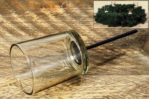 Adventskranz teelichthalter glas