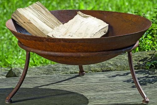 feuerschale eisen rost d 47 cm pflanzschale terrassenfeuer feuerstelle ebay. Black Bedroom Furniture Sets. Home Design Ideas