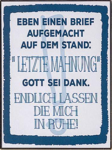 Blechschild Mit Spruch Vintage 40x30 Cm Sprüche Schilder Dekoschild