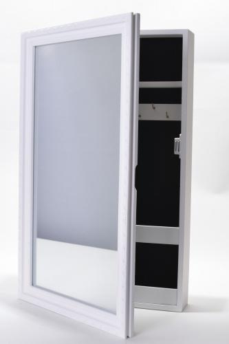 Schmuckschrank mit Spiegel weiß Spiegelschrank Schmuckkasten ...